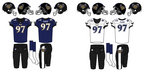 NFL-AFC-BAL-Ravens 1996 uniforms