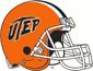 NCAA-C-USA-UTEP Miners Orange Alt & Retro Helmet
