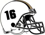 NCAA-Big 10-Purdue Boilermakers White Helmet - Left Side