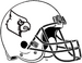 NCAA-ACC-Louisville Cardinals-White & Black Helmet-black facemask