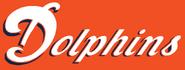 Dolphins alternate white blue coral background wordmark