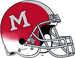 Miami (Ohio) Redhawks Red White Cascade Helmet