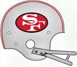 NFL NFC-SF49ers Silver Helmet-1962-63