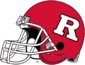 NCAA-Big 10-Rutgers Scarlet Knights Crimson helmet-White facemask-Right side
