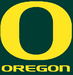 NCAA-Pac-12-Oregon Ducks Green Background logo & script