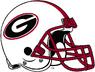 NCAA-SEC-Georgia Bulldogs White helmet red facemask