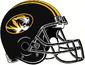 NCAA-SEC-Mizzou Tigers 2019 Black 3 gold stripe helmet w. facemask