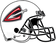 ArenaLeague-Cleveland Gladiators White Helmet 2