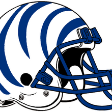 NCAA-AAC-Memphis Tigers white blue bengal Striped helmet.png