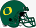 NCAA-Pac12-Oregon Ducks Green O helmet