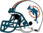 NFL-AFC-Helmet MIA 1997-2012 Helmet-Right side