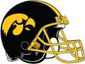 NCAA-Big 10-Iowa Hawkeyes-helmet Yelllow facemask