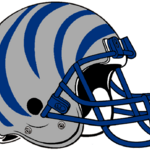 NCAA-AAC-Memphis Tigers silver blue bengal Striped helmet.png