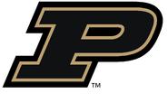 NCAA-Big 10-Purdue Boilermakers Black Trim logo 2