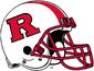NCAA-Big 10-Rutgers Scarlet Knights White striped helmet