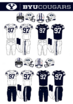 NCAA-BYU Cougars-Independent-Navy Blue Jerseys
