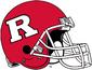 NCAA-Big 10-Rutgers Scarlet Knights Crimson helmet-White facemask