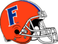 NCAA-SEC-Florida Gators Orange F logo Helmet