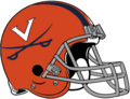 NCAA-ACC-2019 Virginia Cavs Orange helmet