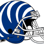 NCAA-AAC-Memphis Tigers blue white bengal Striped helmet.png