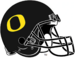 NCAA-Pac-12-Oregon Ducks Black Alt Helmet- Black facemask