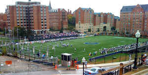 Multi-Sport Field during a Georgetown Hoyas football game in 2008