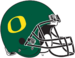 NCAA-Pac12-Oregon Ducks Green O helmet-black facemask