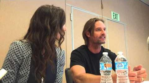 Comic Con 2015 Josh Holloway & Sarah Wayne Callies Interview For USA's Colony