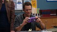 Jeff examines the test