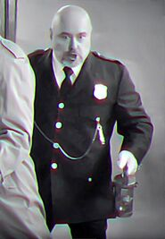 Inspector Spacetime Constable black and white