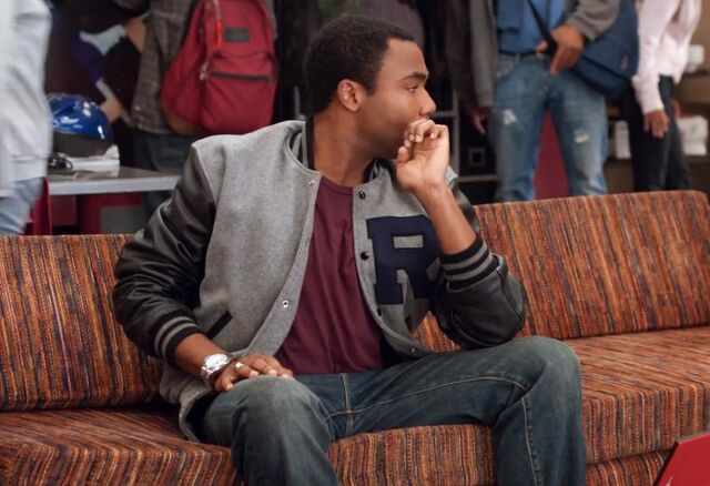 Troy's letterman jacket
