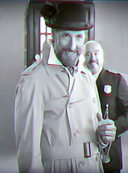 Inspector Spacetime Inspector black and white