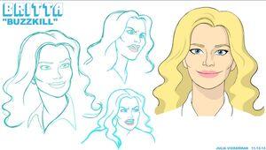 5x11 Britta character design