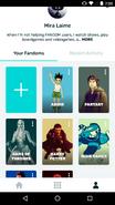 Android FANDOM app - user profile