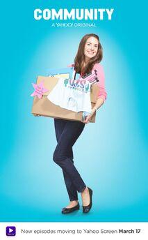 Community Season Six Annie Edison promotional poster
