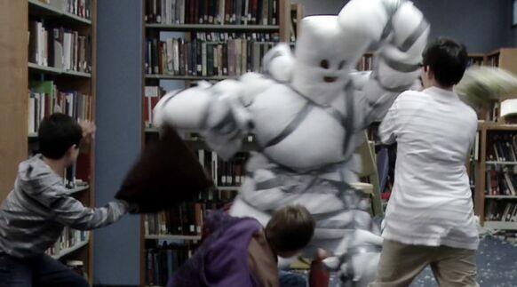 Pillow Man takes on the Basterds