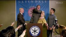 6x4 Dean Pelton comes out at the press conference.jpg