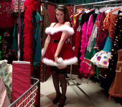3X10 Annie dressed as Santas helper