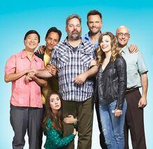Dan Harmon and the cast