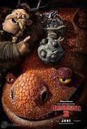 Grump en un poster de como entrenar a tu dragon 2