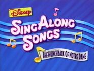 Sing Along Songs From the Hunchback of Notre Dame