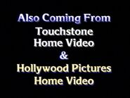 Also Coming from Touchstone Home Video & Hollywood Pictures Home Video