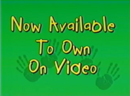 Now Available To Own On Video (Playhouse Disney Variant)