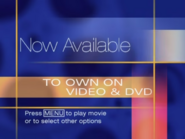 Now Available to Own on Video & DVD (Press Menu variant)