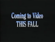 Coming to Video This Fall