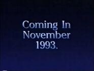 Coming In November 1993