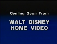 Coming Soon From Walt Disney Home Video (1986)