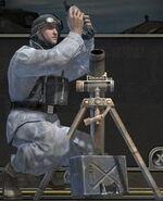 Axis mortar