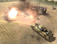 Unit Churchill AVRE Petard Explosion