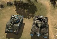 M18 Hellcat - M4 Sherman